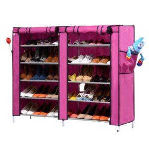 Тканевый двойной шкаф для обуви Shoe Cabinet 5 Layer 6510 114*30*92