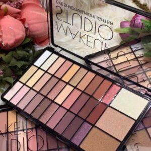 Тени Makeup Studio DoDo Girl + хайлайтер, палетка теней 33 оттенка (B)