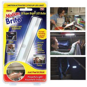 Беспроводной светильник с датчиком движения Motion Brite, автоматический выключатель, универсальная подсветка