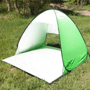 Палатка пляжная двухместная самораскладывающаяся 150*165*110 см ЗЕЛЕНАЯ