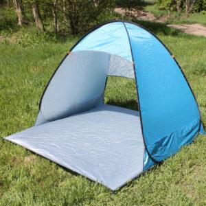 Палатка пляжная двухместная самораскладывающаяся 150*165*110 см СИНЯЯ