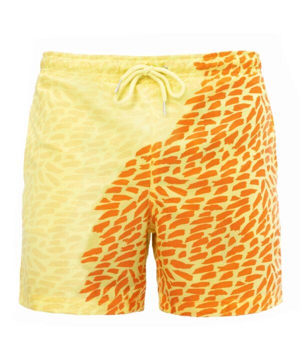 Шорты хамелеон для плавания, пляжные мужские спортивные шорты ЖЕЛТЫЕ Размер L