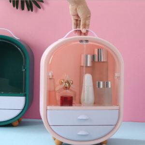 Органайзер для косметики/шкафчик 3 секции Розовый W-19 кейс для косметики органайзер бокс косметический