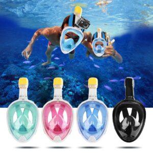 Инновационная маска для снорклинга подводного плавания с креплением для камеры F113