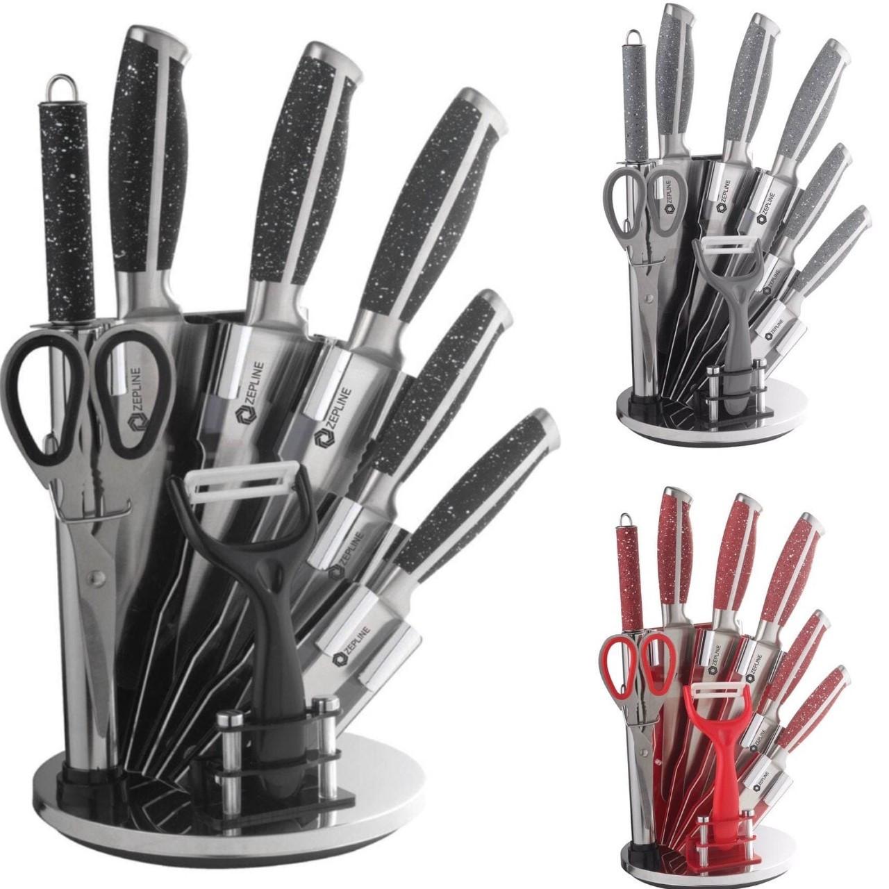 Профессиональный набор ножей Zepline ZP-027 с подставкой