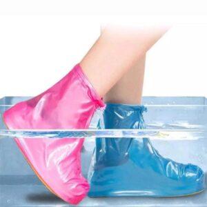 Многоразовые водонепроницаемые чехлы бахилы для обуви с молнией и шнурком-утяжкой  ART-801
