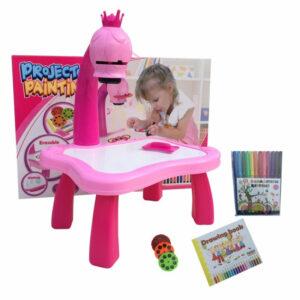 Детский стол проектор для рисования со светодиодной подсветкой  TV10017