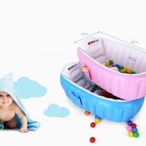 Детская надувная ванночка INTIME BABY BATH YT-226A, ванночка для купания ребенка розовая и голубая