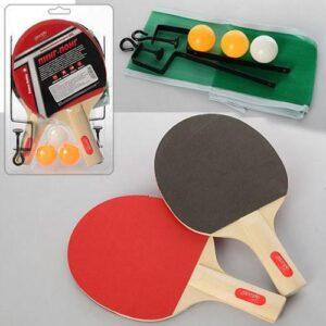Игровой набор ракеток 2 штуки с шариками и сеткой для настольного тенниса W10