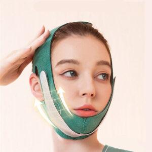 Маска-бандаж для коррекции овала лица и второго подбородка корректирующая маска WM-43
