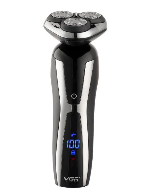 Аккумуляторная электробритва VGR V-309 для бороды и усов электрический триммер для мужчин 3 насадки