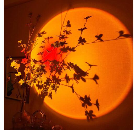 Проекционный светильник Sunset Lamp с эффектом заката, рассвета fm-23