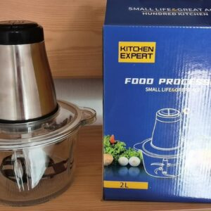 Кухонный измельчитель-блендер zp051 250W. Стеклянная чаша 2л. Двойное лезвие