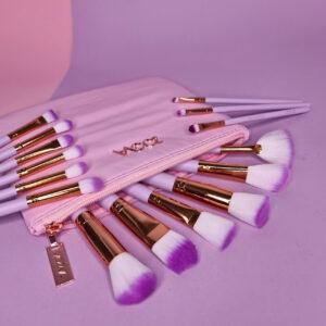 Набор кистей для макияжа ZOEVA Pink (15 шт.)