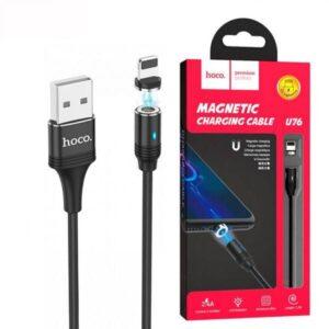 Кабель магнитный для айфонов Hoco U76 Magnetic Adsorption Lightning USB