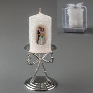 Свадебная свеча с молодоженами 10 см (016Q)