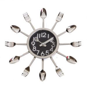 """Стильные Часы для кухни """"Ложки и вилки"""" (2003-028)"""