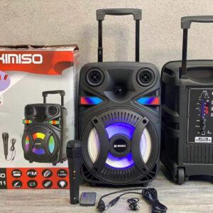 Портативная колонка Kimiso QS-4811 Bluetooth, с микрофоном для караоке, FM радио, MP3, пультом