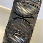 Портативная колонка Kimiso QS-223 с проводным микрофоном, пультом, Bluetooth, FM радио, MP3
