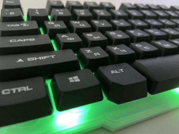 Клавиатура Русская + Мышка KEYBOARD KT-288 , комплект клавиатура и мышка с подсветкой