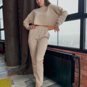 Спортивный костюм женский Сова Бежевый