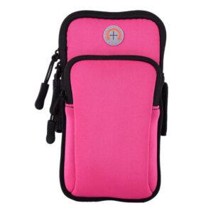Сумка для бега Double arm package   сумка - чехол на руку J&B Розовый