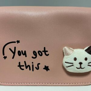 Стильная женская сумка с котиком D5053 Пудра