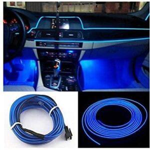 Подсветка для салона 5 М автомобиля с адаптером в прикуриватель CAR Cold Light Line EL-1302 СИНЯЯ