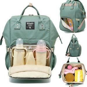 Сумка-рюкзак для мам MOTHER BAG el-1230 ЗЕЛЕНАЯ