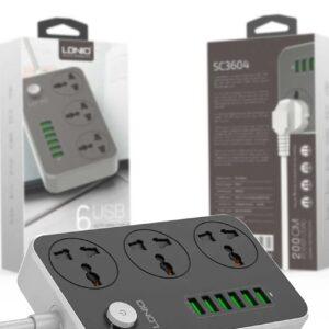 Удлинитель сетевой фильтр Ldnio SC3604