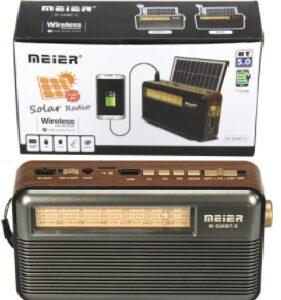 Качественное Радио на солнечной батарее Meier M-520BT-S