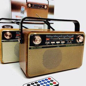 Радиоприемник Kemai Retro MD-505 BT аккумуляторный с подсветкой + пульт ДУ