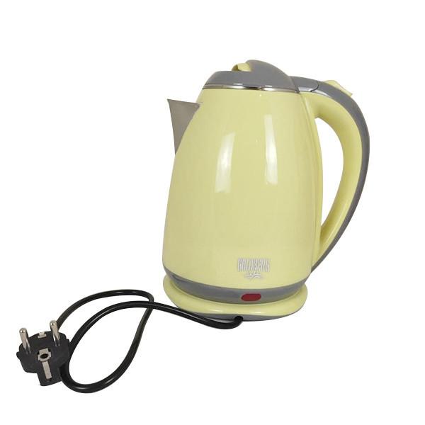 Электрический чайник с металлической колбой Goldberg GB-8689 Желтый