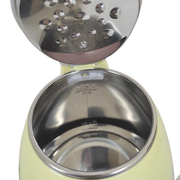 Электрический чайник с металлической колбой Goldberg GB-8689 Белый
