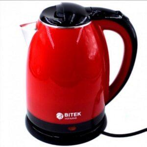Электрический чайник с металлической колбой BITEK BT-3114 Красный
