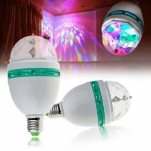 Диско лампа Crownberg CB-0301 светодиодная с патроном вращающаяся диско шар для вечеринок