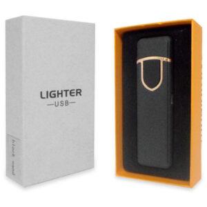 Аккумуляторная электро импульсная спиральная USB зажигалка L-15642 в подарочной упаковке