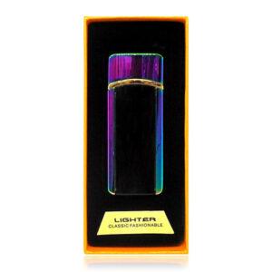 Аккумуляторная электро импульсная спиральная USB зажигалка L-15628 в подарочной упаковке
