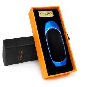 Аккумуляторная электро импульсная спиральная USB зажигалка L-15634 в подарочной упаковке