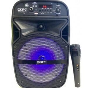 Колонка мини-чемодан USB, SD, FM, AUX, Bluetooth со светомузыкой KIPO KB-Q10