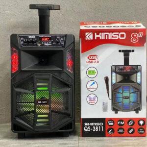 Портативная колонка чемодан Kimiso QS-3811 с пультом и микрофоном