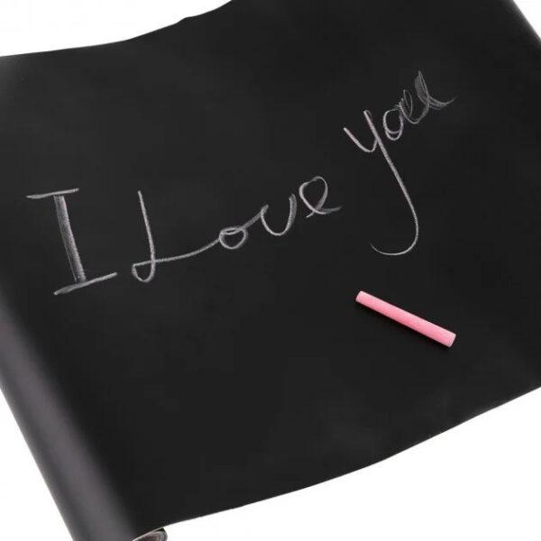 Самоклеющаяся пленка для рисования мелом Black Board Sticker 45х200 см