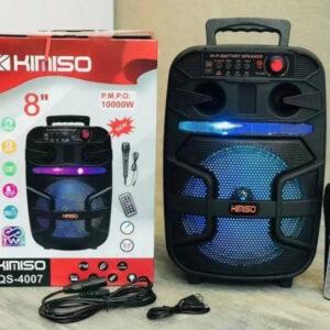 Портативная колонка Kimiso QS-4007 Bluetooth, с микрофоном для караоке, FM радио, MP3, пультом