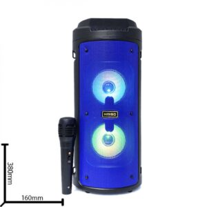 Портативная колонка Kimiso KMS-6681 Bluetooth, с микрофоном для караоке, FM радио, MP3, пультом
